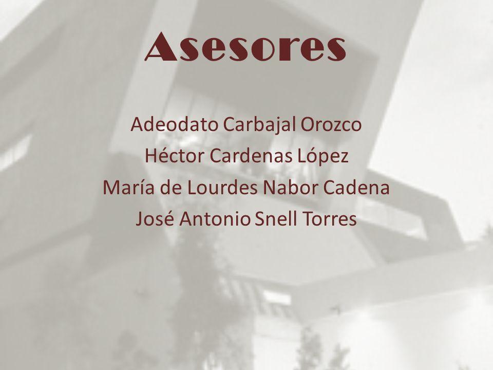 Asesores Adeodato Carbajal Orozco Héctor Cardenas López María de Lourdes Nabor Cadena José Antonio Snell Torres