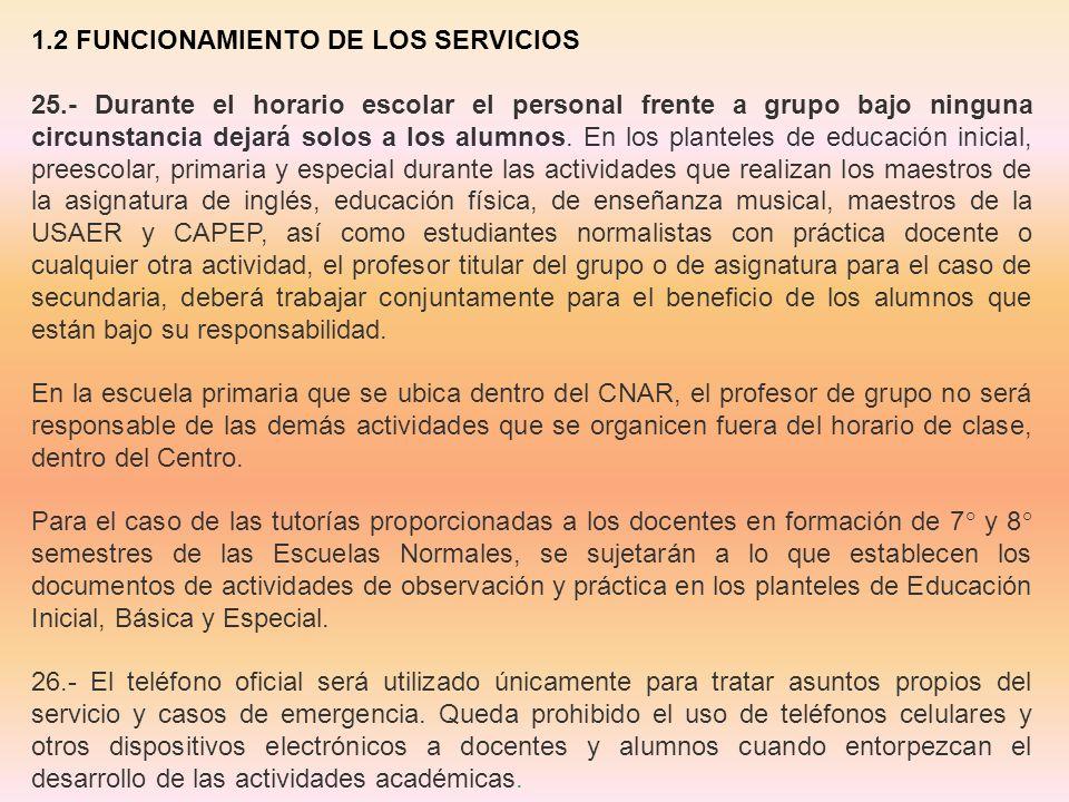 1.2 FUNCIONAMIENTO DE LOS SERVICIOS