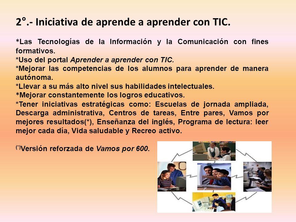 2°.- Iniciativa de aprende a aprender con TIC.