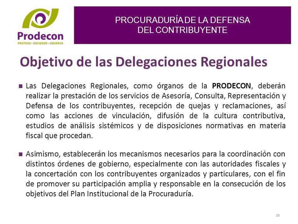 Objetivo de las Delegaciones Regionales