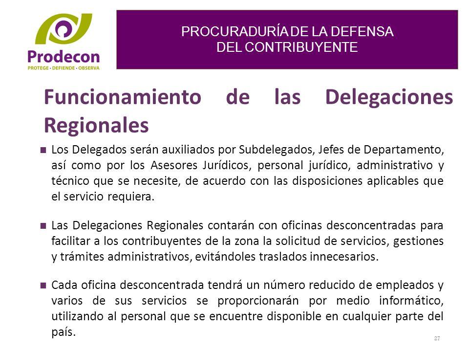 Funcionamiento de las Delegaciones Regionales