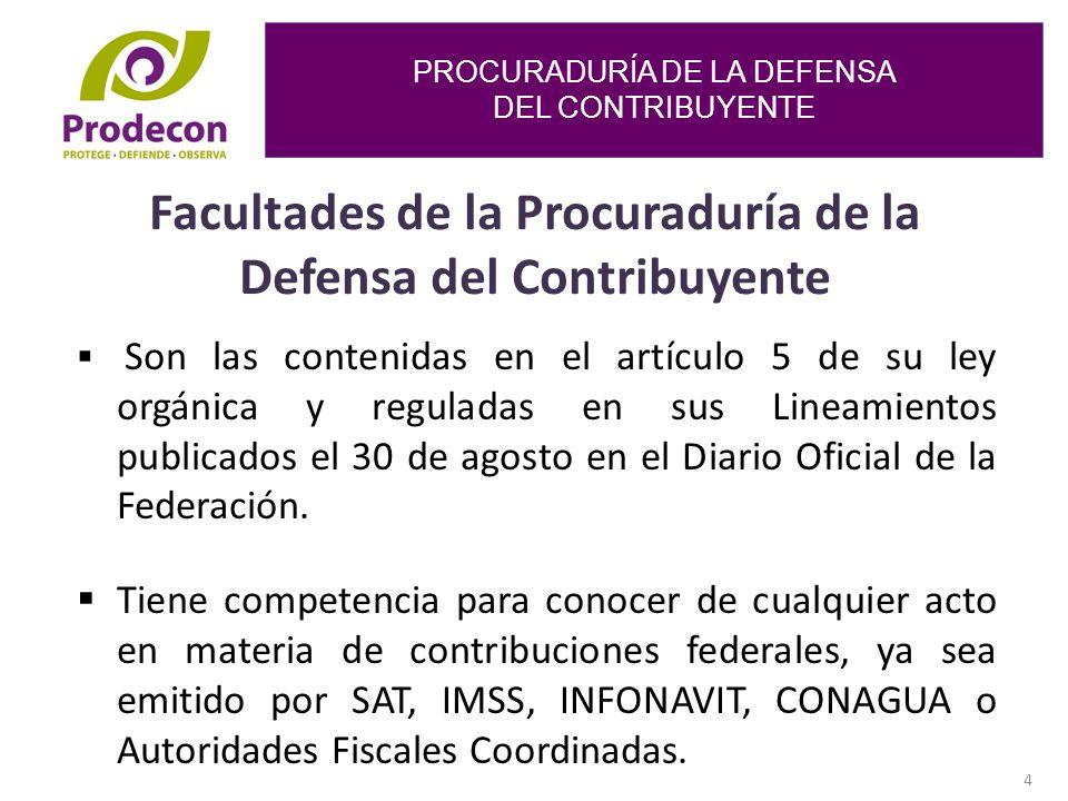 Facultades de la Procuraduría de la Defensa del Contribuyente
