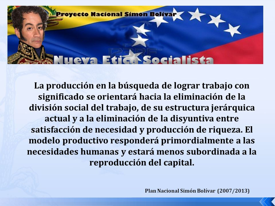 Plan Nacional Simón Bolívar (2007/2013)