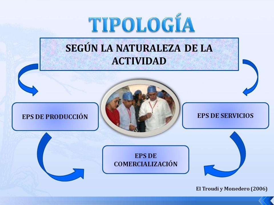 SEGÚN LA NATURALEZA DE LA ACTIVIDAD EPS DE COMERCIALIZACIÓN