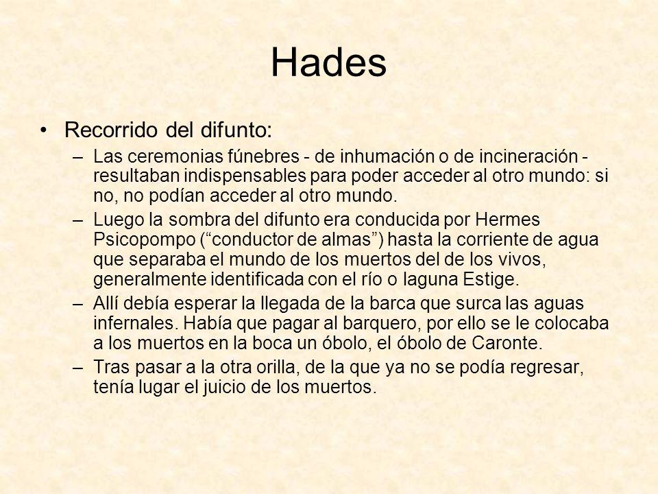 Hades Recorrido del difunto:
