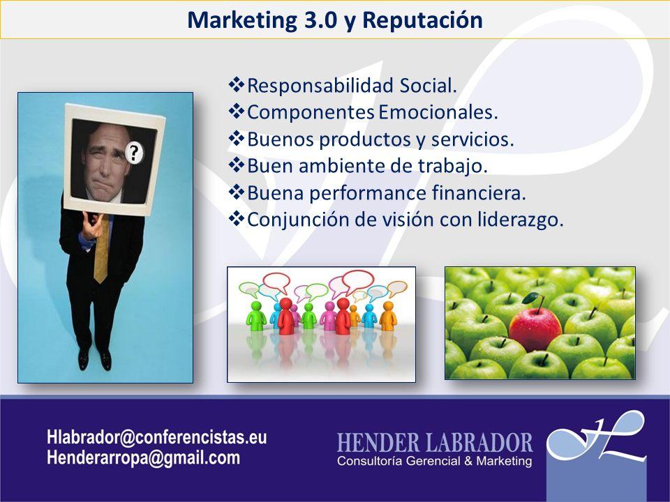 Marketing 3.0 y Reputación