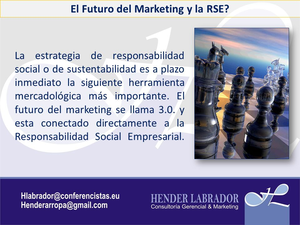 El Futuro del Marketing y la RSE