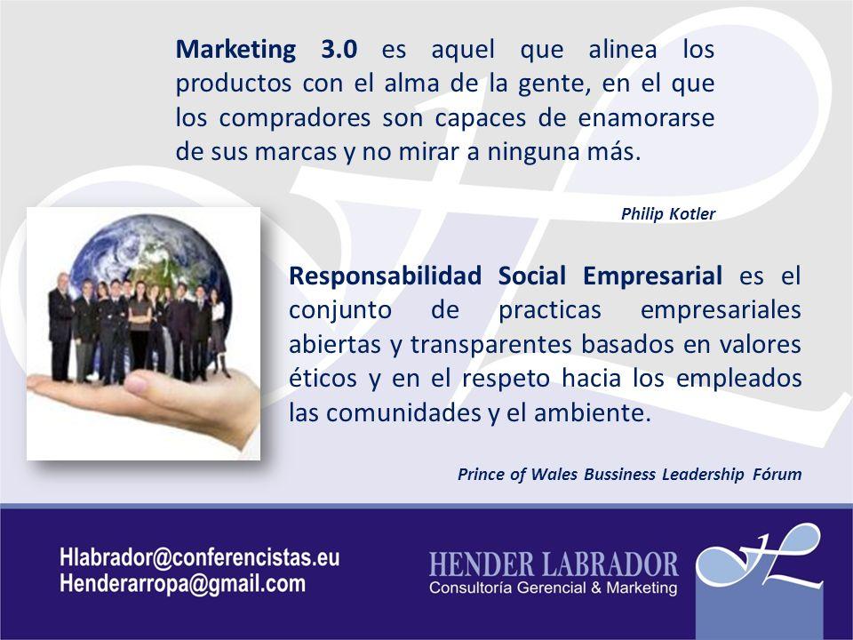 Marketing 3.0 es aquel que alinea los productos con el alma de la gente, en el que los compradores son capaces de enamorarse de sus marcas y no mirar a ninguna más.