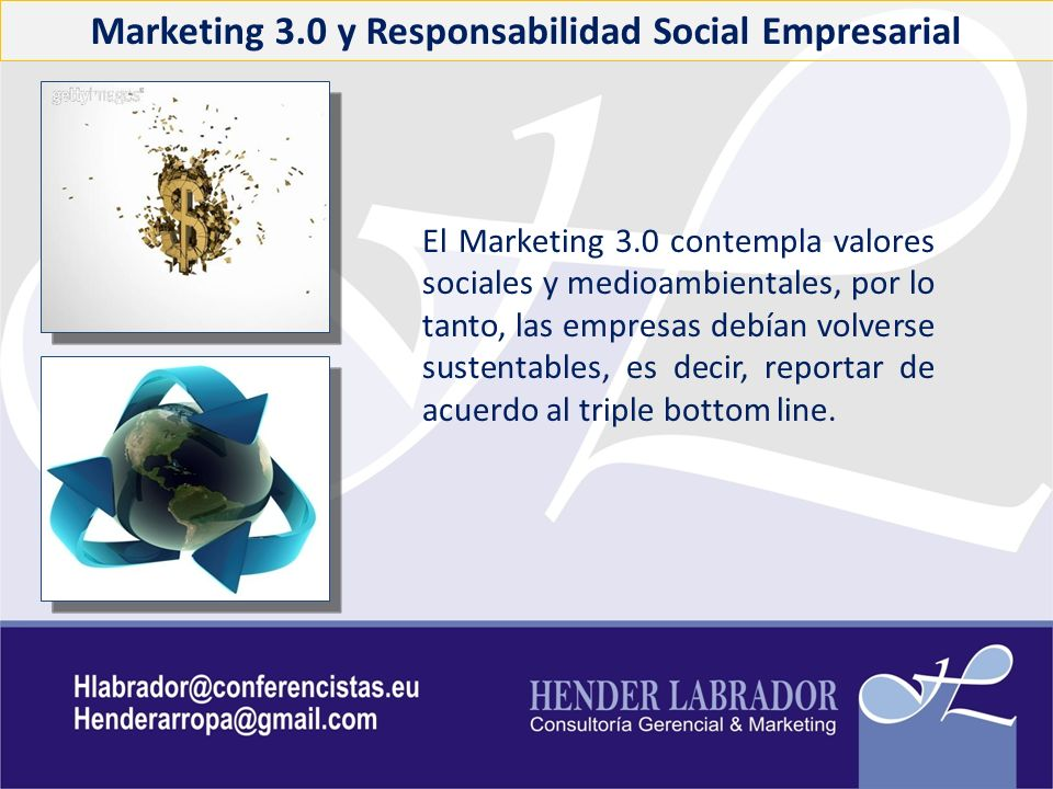 Marketing 3.0 y Responsabilidad Social Empresarial