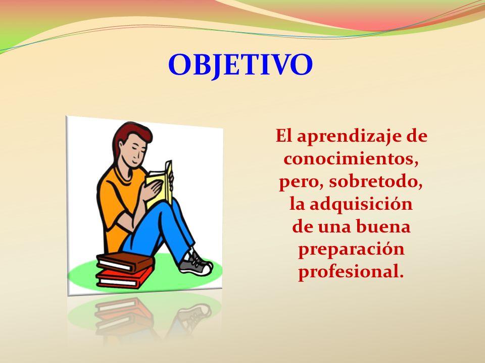 El aprendizaje de conocimientos, de una buena preparación profesional.
