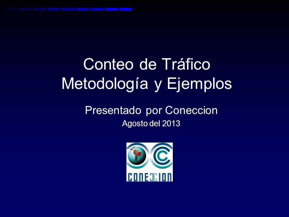 Conteo de Tráfico Metodología y Ejemplos