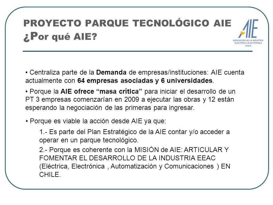 PROYECTO PARQUE TECNOLÓGICO AIE ¿Por qué AIE