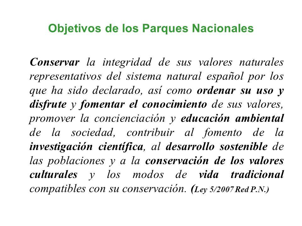 Objetivos de los Parques Nacionales