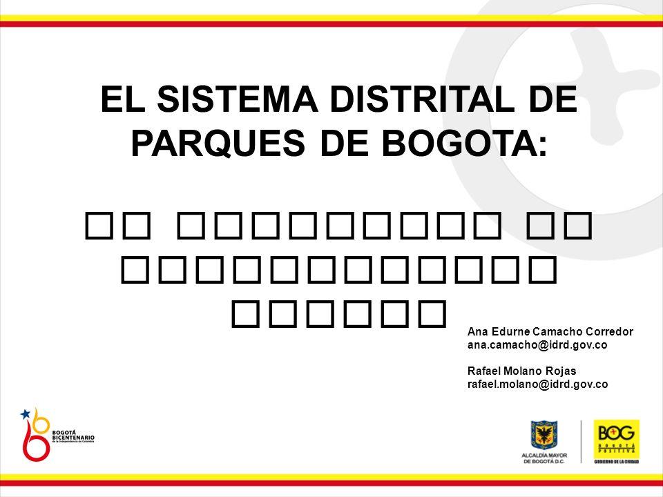 EL SISTEMA DISTRITAL DE PARQUES DE BOGOTA: