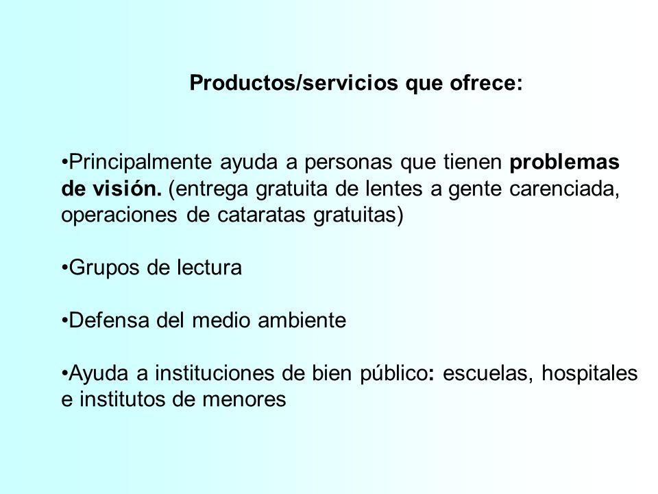 Productos/servicios que ofrece: