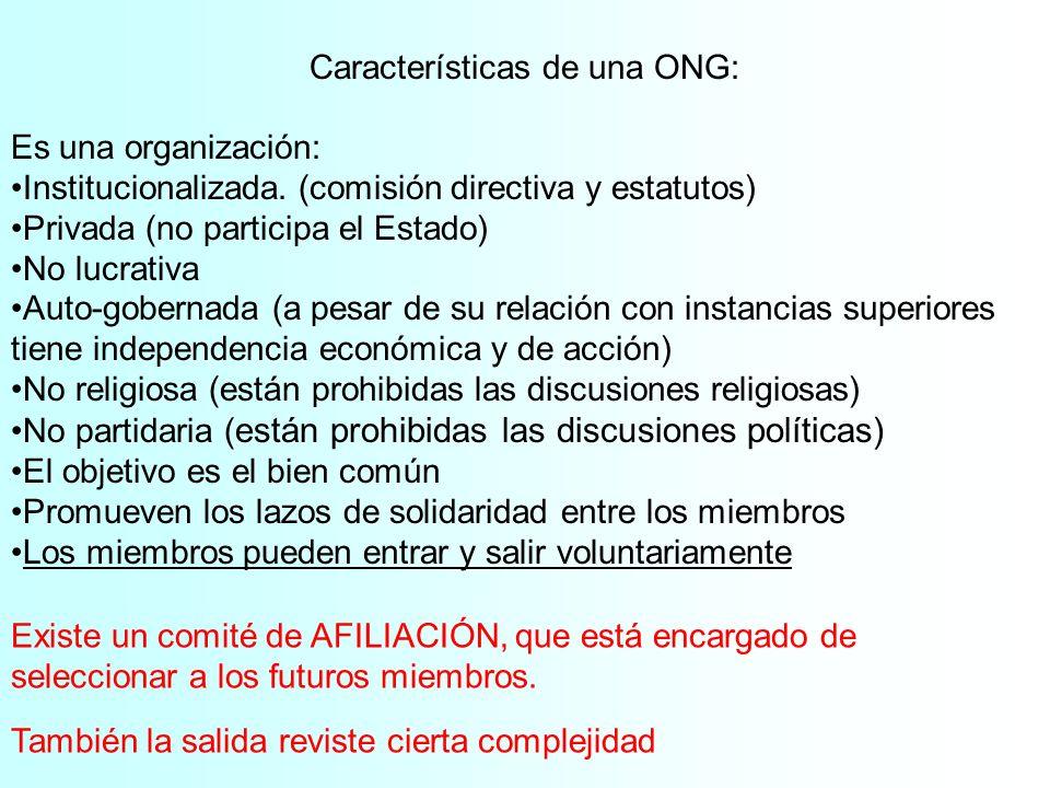 Características de una ONG: