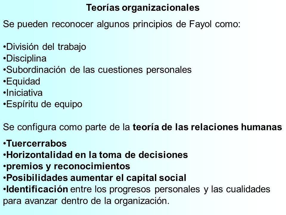 Teorías organizacionales