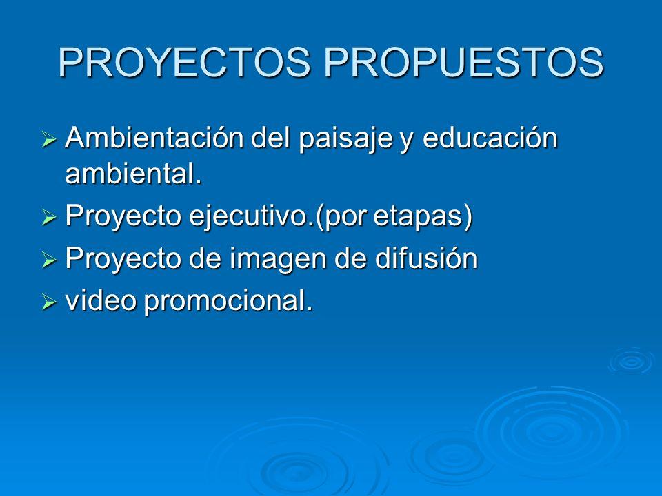 PROYECTOS PROPUESTOS Ambientación del paisaje y educación ambiental.