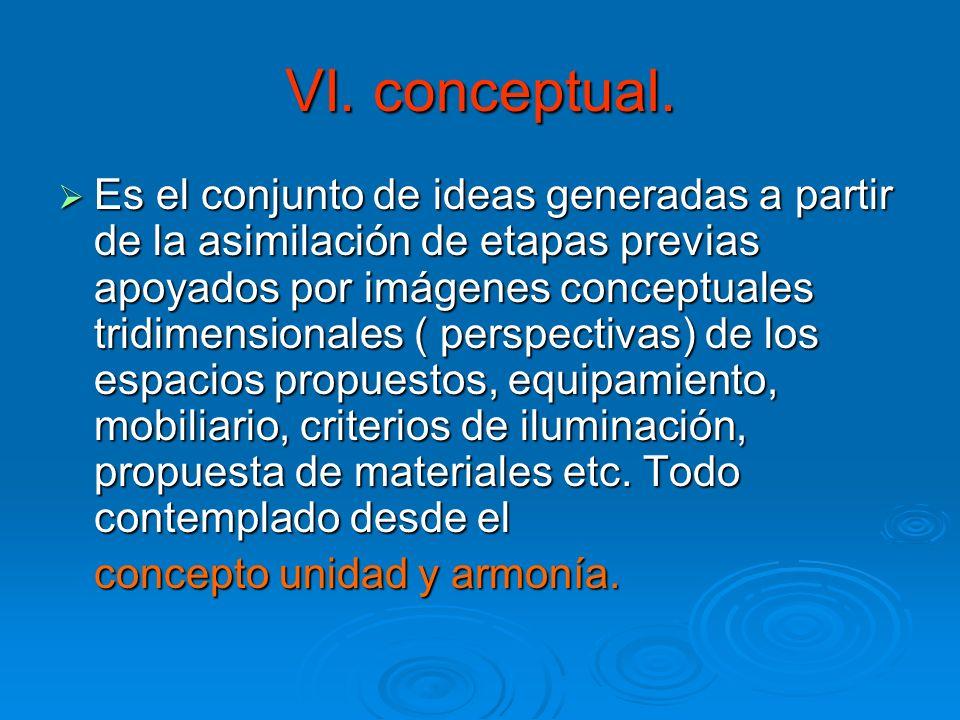 VI. conceptual.