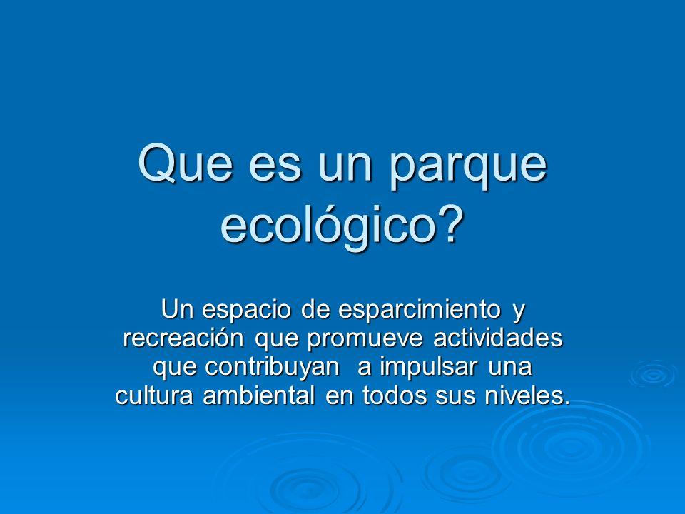 Que es un parque ecológico