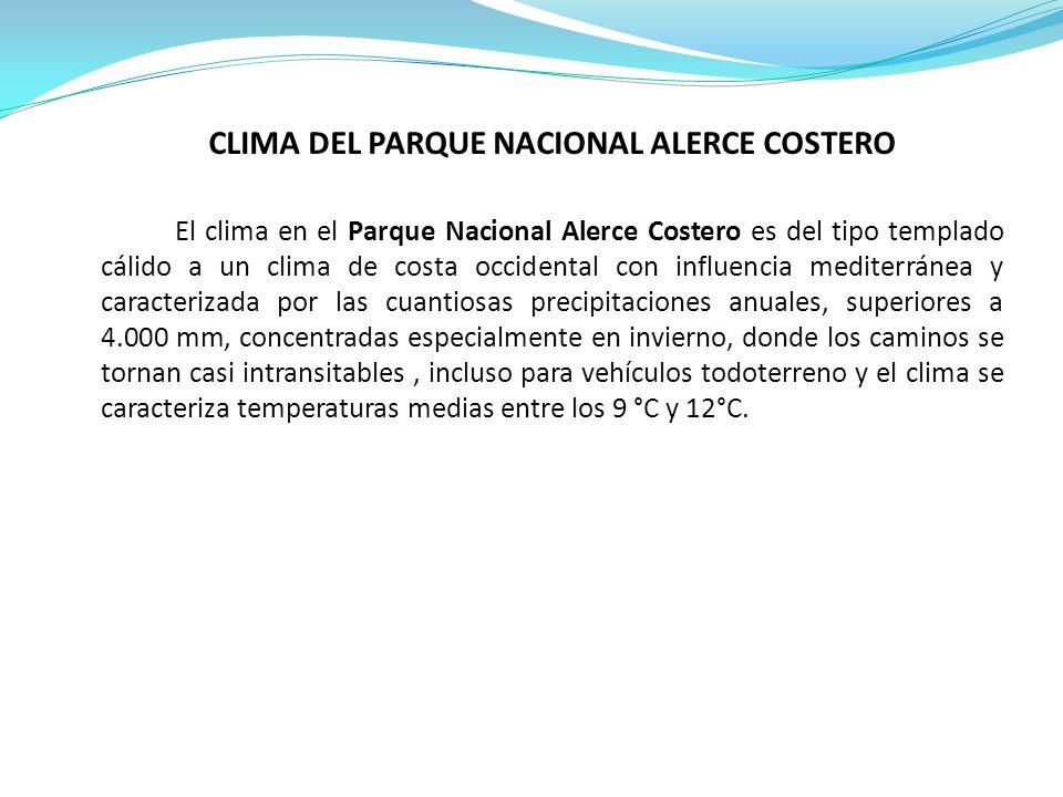 CLIMA DEL PARQUE NACIONAL ALERCE COSTERO