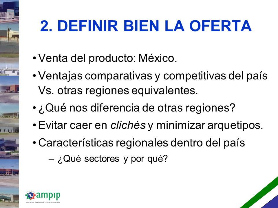 2. DEFINIR BIEN LA OFERTA Venta del producto: México.