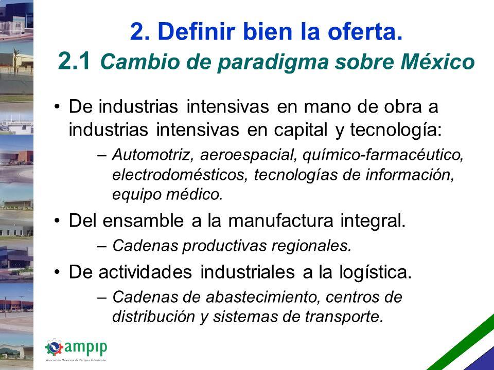 2. Definir bien la oferta. 2.1 Cambio de paradigma sobre México