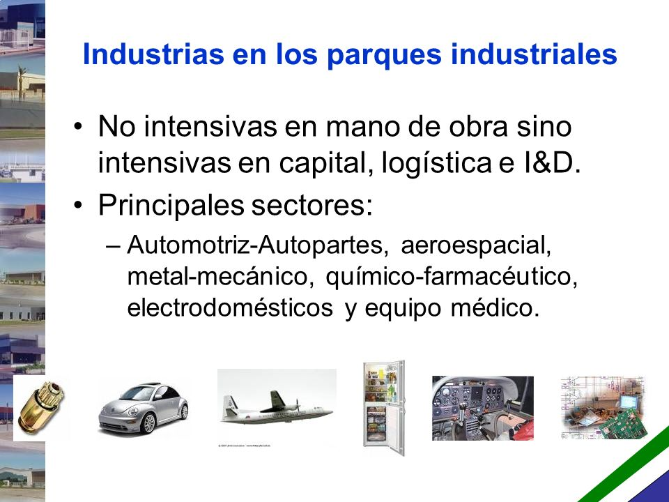 Industrias en los parques industriales