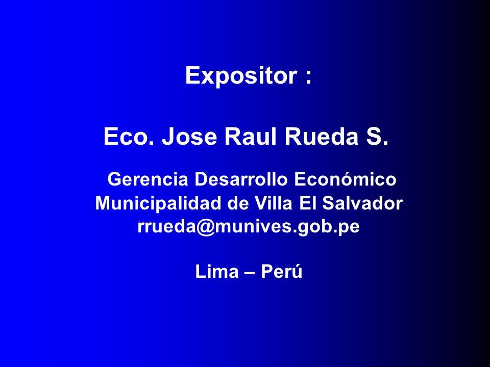 Gerencia Desarrollo Económico Municipalidad de Villa El Salvador