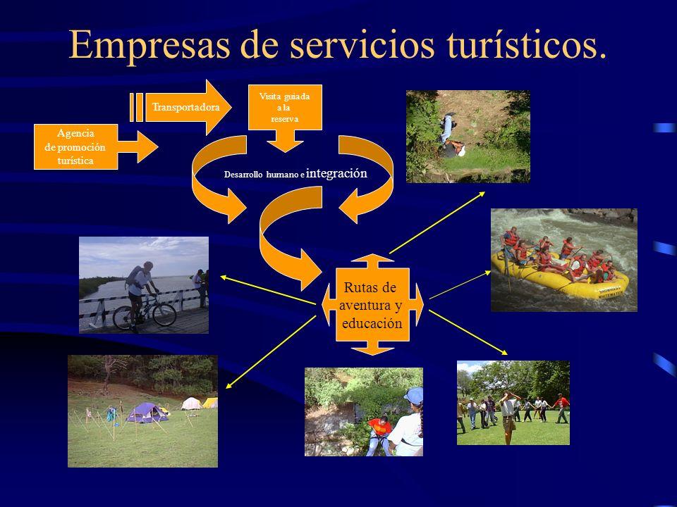 Empresas de servicios turísticos.
