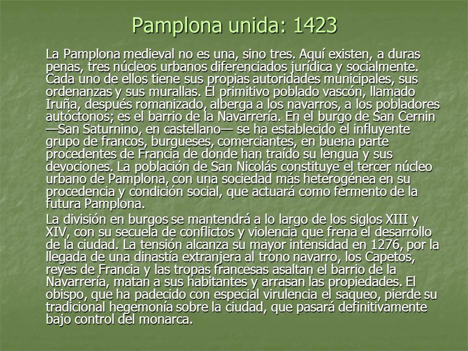 Pamplona unida: 1423