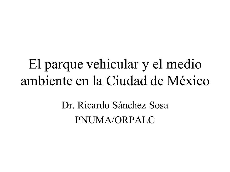 El parque vehicular y el medio ambiente en la Ciudad de México