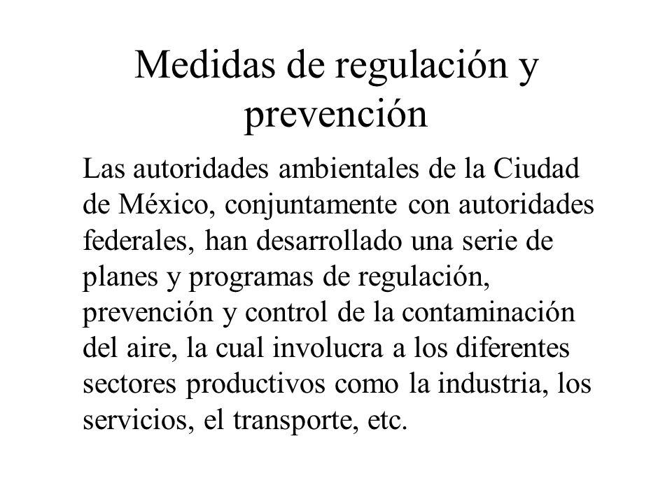 Medidas de regulación y prevención