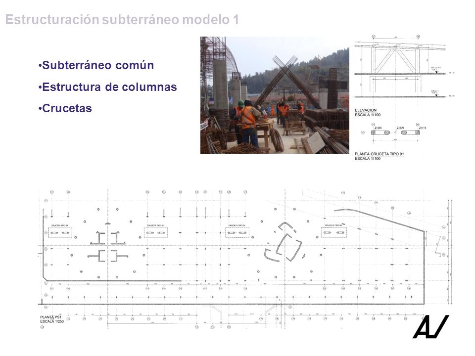 Estructuración subterráneo modelo 1