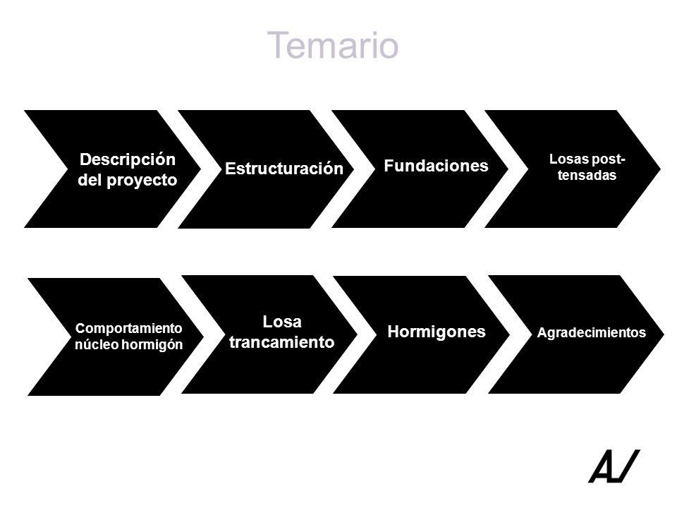 Descripción del proyecto Comportamiento núcleo hormigón