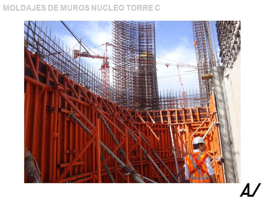 MOLDAJES DE MUROS NUCLEO TORRE C