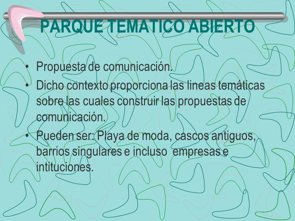 PARQUE TEMATICO ABIERTO