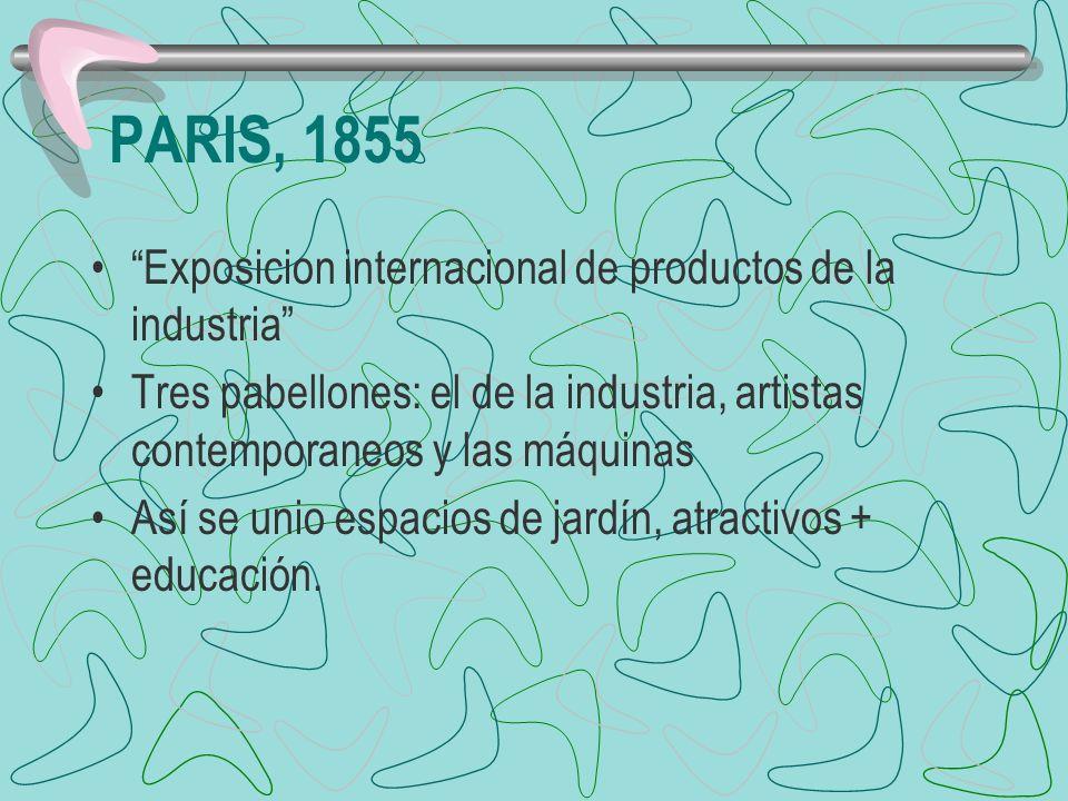 PARIS, 1855 Exposicion internacional de productos de la industria