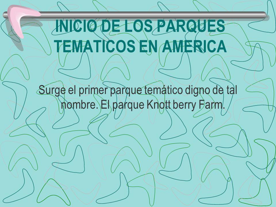 INICIO DE LOS PARQUES TEMATICOS EN AMERICA