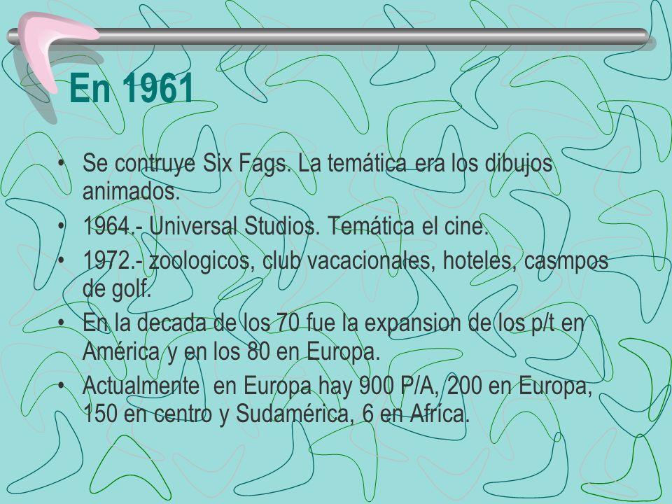 En 1961 Se contruye Six Fags. La temática era los dibujos animados.