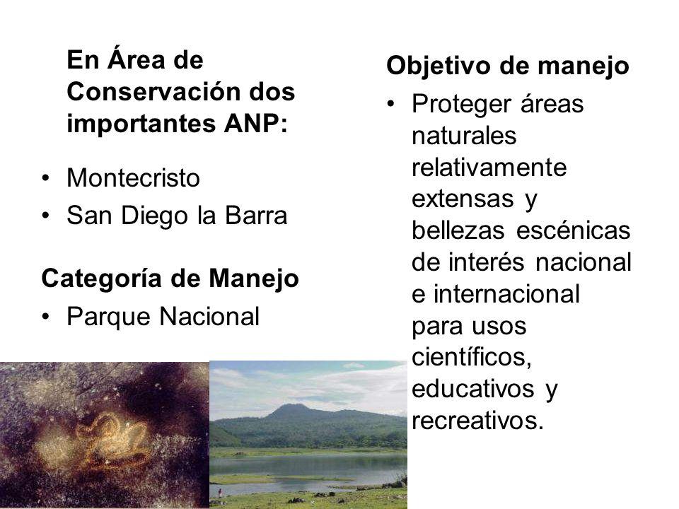En Área de Conservación dos importantes ANP: