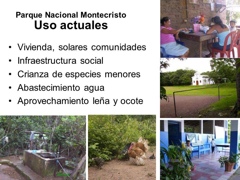 Parque Nacional Montecristo Uso actuales