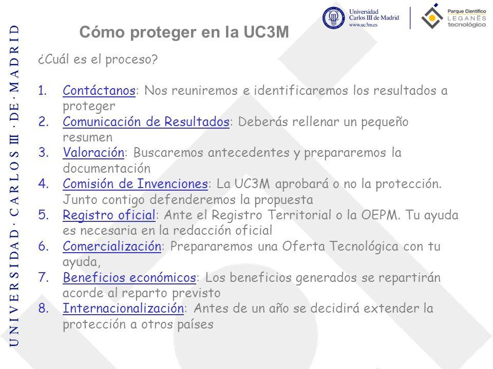 Cómo proteger en la UC3M ¿Cuál es el proceso