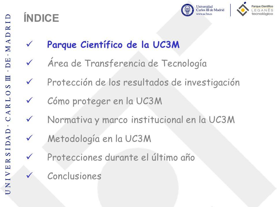 ÍNDICE Parque Científico de la UC3M