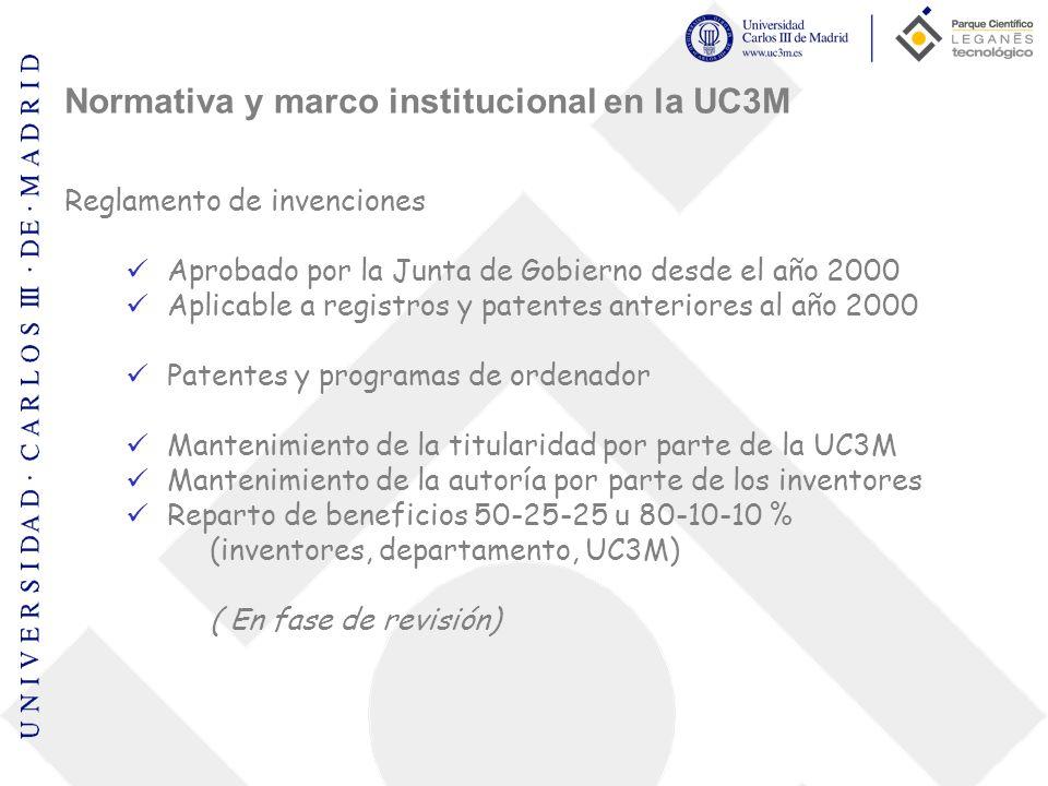 Normativa y marco institucional en la UC3M