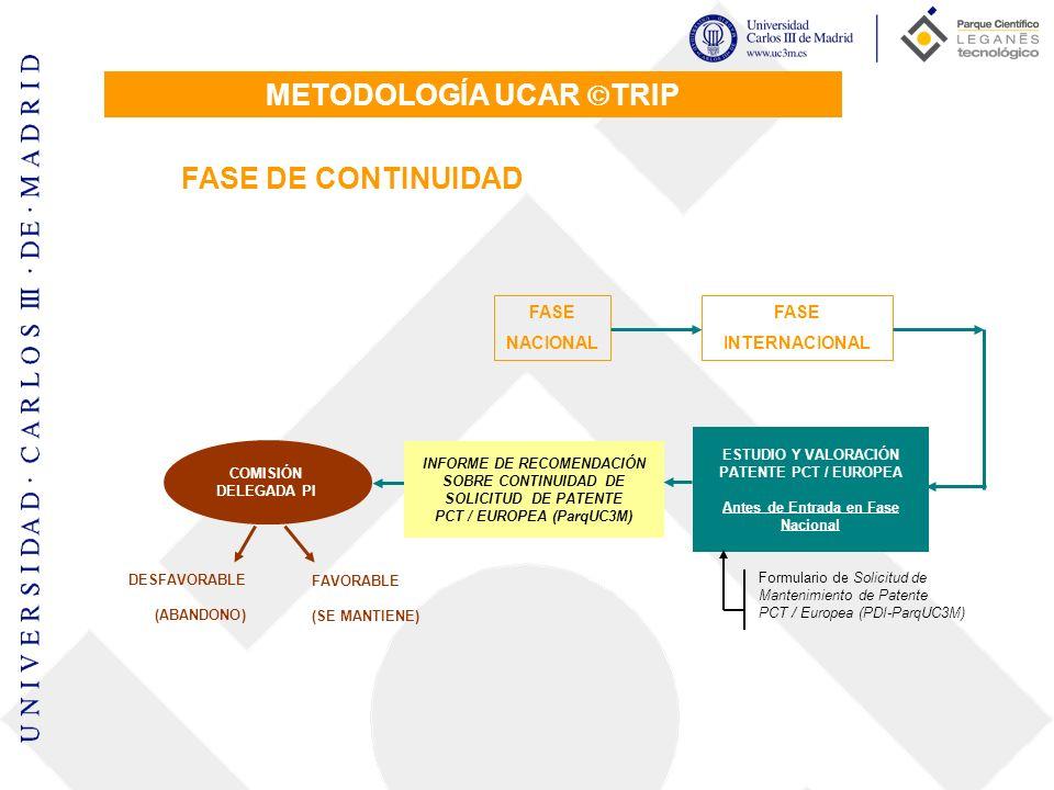 METODOLOGÍA UCAR TRIP FASE DE CONTINUIDAD