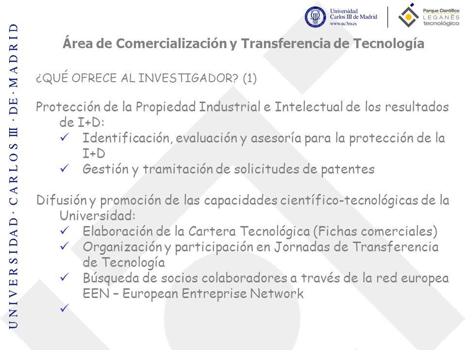 Área de Comercialización y Transferencia de Tecnología