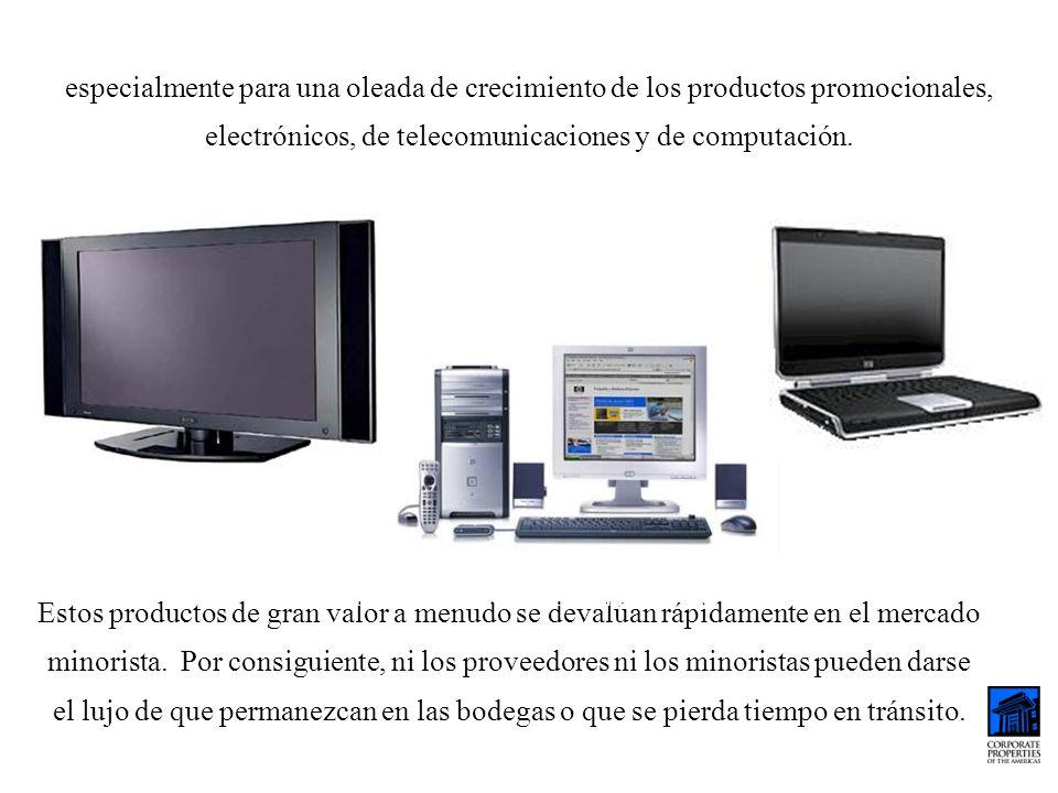 especialmente para una oleada de crecimiento de los productos promocionales, electrónicos, de telecomunicaciones y de computación.
