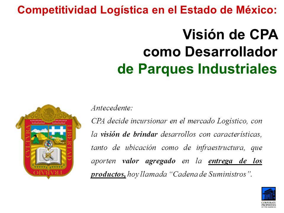 Visión de CPA como Desarrollador de Parques Industriales