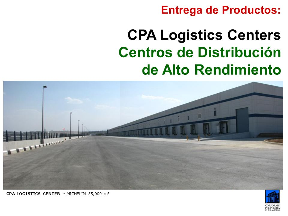 Centros de Distribución de Alto Rendimiento